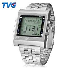 TVG New Rectangle Remote Control Digital Sport watch Alarm TV DVD remote Men Lad