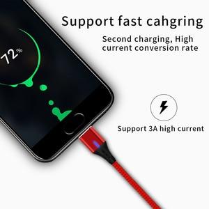 Image 2 - SUNPHG 携帯電話 3A 磁気ケーブル充電器 2m マイクロ USB 高速充電タイプ C データケーブル iphone 雷 xs xr サムスン S9