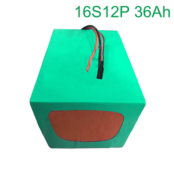 60V 36Ah 16S12P 18650 Li-ion Battery electric two Three wheeled motorcycle bicycle  ebike     235*165*140mm