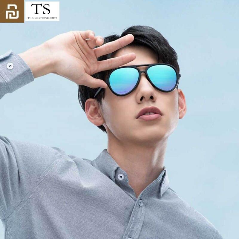 Youpin Ice Blue очки TS бренд TAC поляризованные солнцезащитные очки Авиатор из нержавеющей стали линзы 100% УФ защита для путешествий на открытом воздухе для мужчин и женщин|Смарт-гаджеты|   | АлиЭкспресс