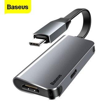 цена на Baseus USB C HUB to HDMI Type C PD Adapter USB-C Converter USB 3.0 Type-C Hab Splitter Dock For Window 10 Macbook Pro Air Switch