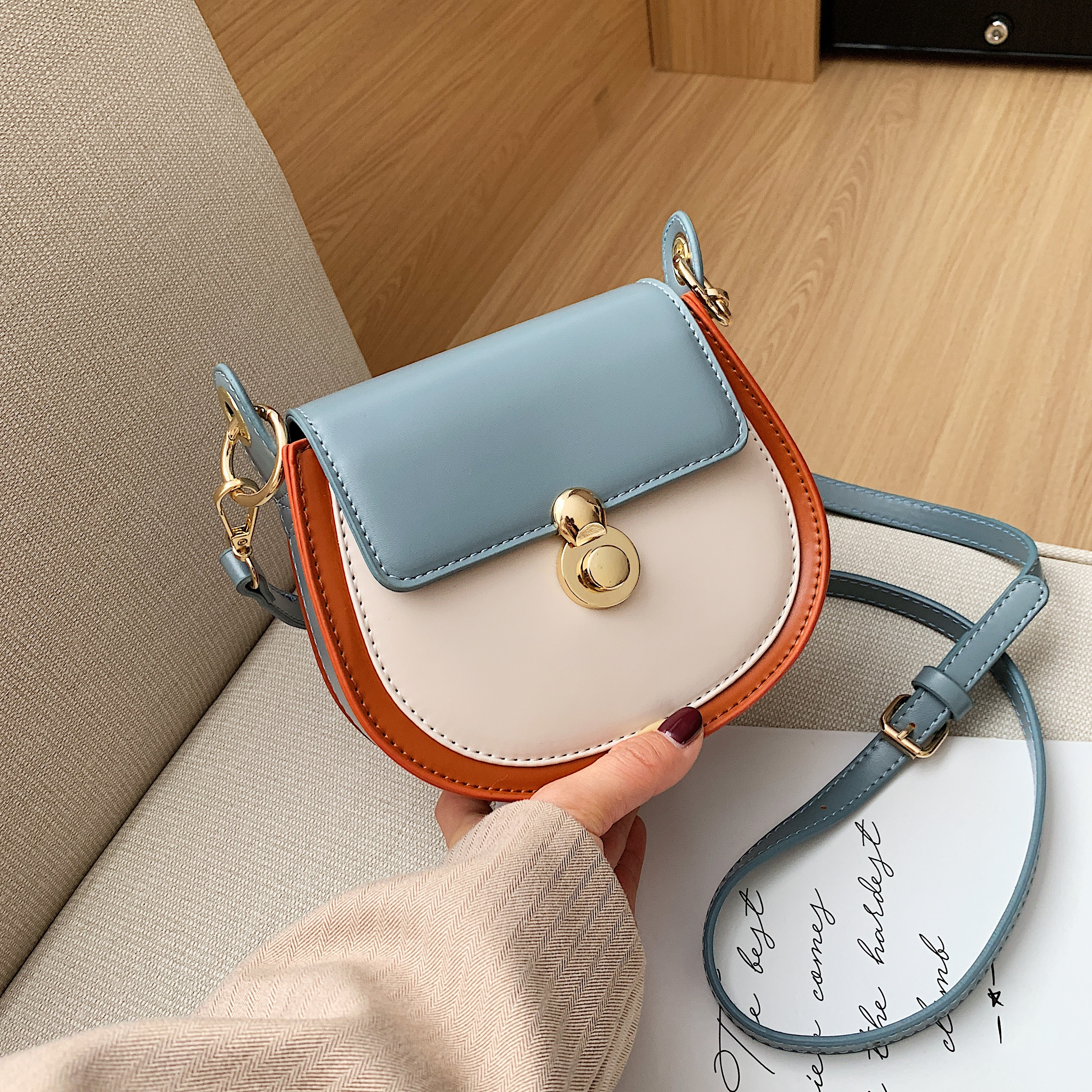 Contrast Color Small Crossbody Bag 8