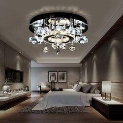 Osobowości twórczej gabinet gwiaździste światło proste nowoczesny okrągły Crystal Light ciepły sypialnia lampa sufitowa WF107355