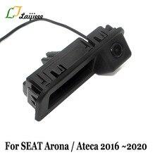Caméra de recul pour voiture, pour SEAT Arona Ateca 2016 2017 2018 2019 2020/HD, poignée de coffre, caméra de stationnement arrière pour Cupra Ateca