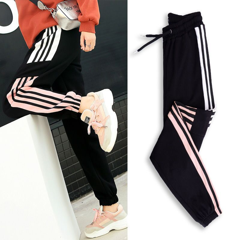 Japanese Korean Fashion Ulzzang Streetwear Slim Ankle Pants Women Student Joggers Thin Casual Bottom Trousers