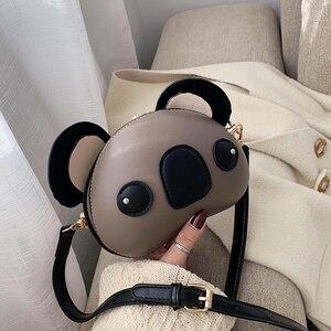 Image 2 - Fashion and Cute Koala Design Pu Leather Female Purses and Handbags Shoulder Bag Crossbody Mini Bag Women Clutch Bag Pouch