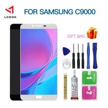Regulowana jasność LCD do samsunga Galaxy C9 Pro C9000 C9 wyświetlacz LCD montaż digitizera ekranu dotykowego wymiana panelu części