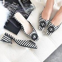 נשים פטנט עור סנדלי העקב מרובע אופנה הקיץ להחליק על נוחות כפכפים ליידי סנדלי נשים נעליים יומיומיות אישה