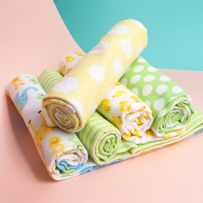 4Pcs/Lot Baby Blankets Muslin Swaddle Diapers 100% Cotton Flannel Baby Swaddle Blanket For Newborns Photography Kids Muslin Wrap