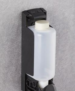 Image 5 - Plastic Wall Mount Soap Dispenser Pump Black Bathroom Shower Shampoo Liquid Dispenser Set Hotel Mall Kitchen Soap Bottle 350ml