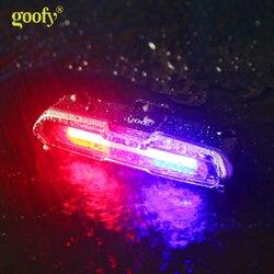 USB Chống Nước Sạc Phía Trước Phía Sau Xe Đạp Xe Đạp Lithium Pin Đèn LED Âm Trần Dạng Tấm Mỏng Mũ Bảo Hiểm Ánh Sáng Đèn Đèn Pin