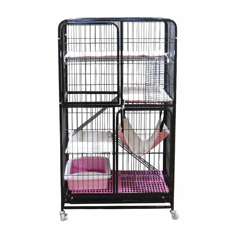 Pet Cat Cage Home Villa Room Oversized Free Space Double Layer Three Story House Nest Houses Kennels Pens Aliexpress