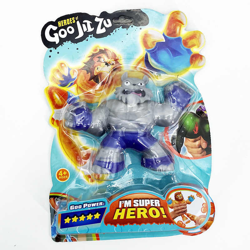 Kahramanları GOO Jit Zu Copy yazılımı Vs yumuşak köpekbalığı aslan kurt oyuncaklar sümüksü stres giderici sıkmak hobiler bebek ilginç çocuklar hediye