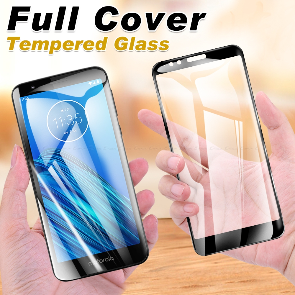 2.5D Full Cover Tempered Glass For Motorola Moto E6s E6 E5 E4 Plus Z4 Z3 Z2 Force Play Glass Screen Protector Protective Film image