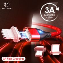 Magnetic cable 3A Usb type c cable fast charging for iPhone X S MAX XR 8 7 Phone charger for samsung s9 oneplus 6t Data transfer magnetic cable micro usb charger type c charging wire for iphone x xr 8 7 6 oneplus 6t samsung s9 s8 microusb cord mobile phone