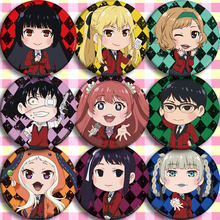 Japan Anime Kakegurui B Cosplay Badge Cartoon Brooch Pins Collection Backpacks Badges For Bags Button gifts(China)