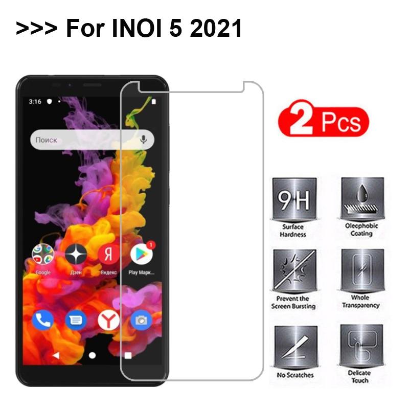 2 шт. закаленное стекло для INOI 5 2021 защита для экрана 100% Высокое качество закаленное защитное стекло для INOI 5 2021 пленка для телефона