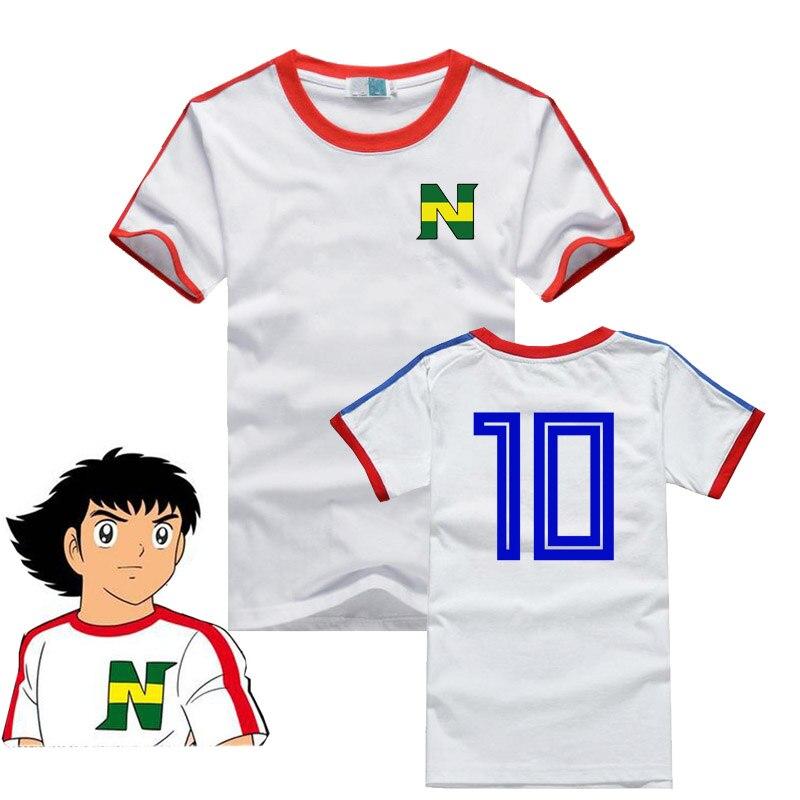 Аниме капитан Цубаса косплей мужской женский костюм Tsubasa Ozora Nankatsu Начальная школа футболка с коротким рукавом детская футболка