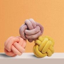 Завязанная плюшевый шар Подушка круглая подушка поясная подушка на диван-кровать для дома украшения куклы игрушки для детей 18 см/30 см/25 см