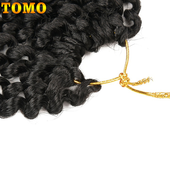 TOMO Passion Twist Crochet Hair Synthetic Braiding Hair Extensions 14 18 22Inch 22Strands Spring Twist 80g/Pack Long Black Brown 18
