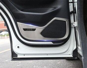 스테인레스 스틸 자동차 인테리어 도어 안티 킥 패드 안티 킥 플레이트 마즈다 CX5 cx-5 2017-2019 2 세대 자동차 스타일링