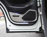 Porta interior do carro de aço inoxidável anti kick pad placa anti pontapé para mazda cx5 cx-5 2017-2019 2nd geração estilo do carro