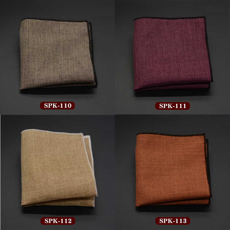 Suit Pocket Towel Dress Men's Business Small Square Handkerchief Solid Cotton Head Wrap Neck Scarf Wristband Handkerchief