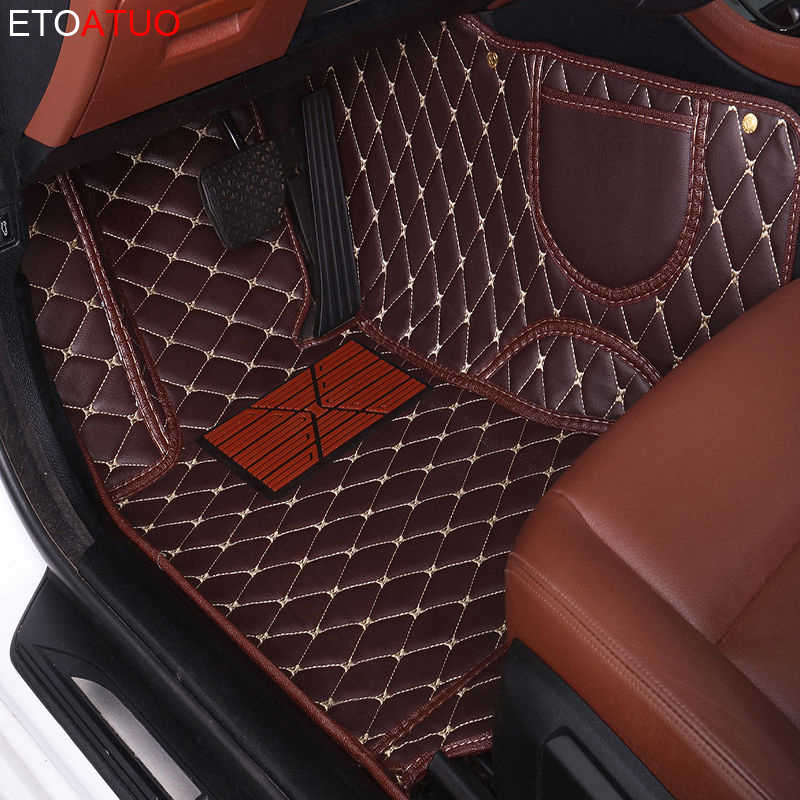 Tapis de sol de voiture personnalisé ETOATUO pour Kia sportage sorento cerato soul optima Niro Opirus Borrego VQ carnaval Carens SHUMA Cad Rio 2