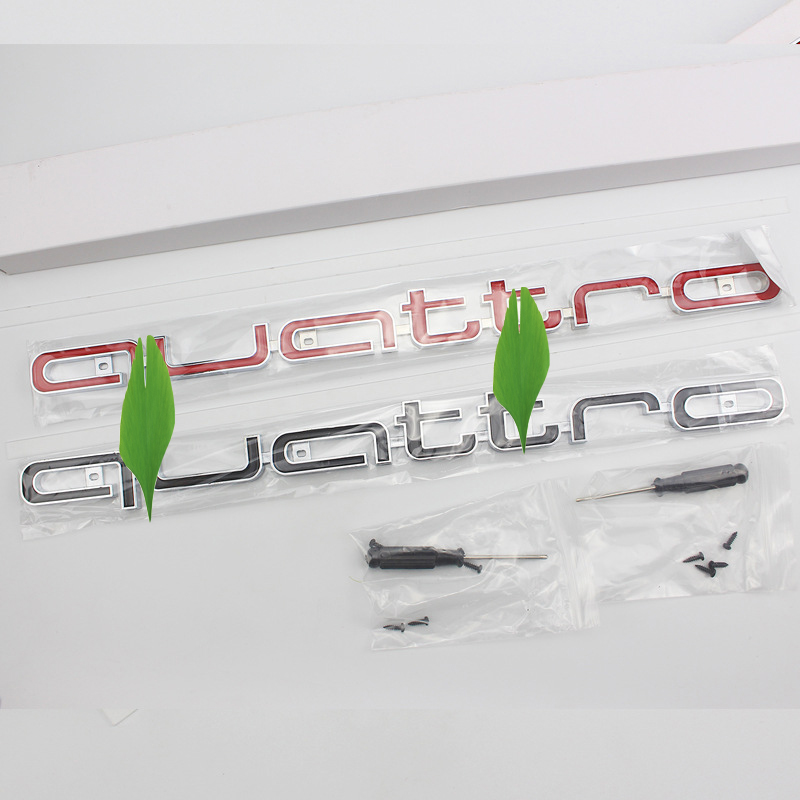 For Audii A3 A4 A6 A7 Q3 Q5 Modified Racing Grills Mark Quattro Racing Grills Sticker  Four-wheel Drive Standard Car Sticker