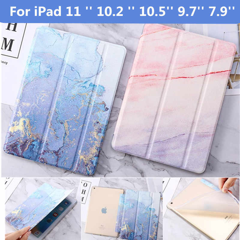Case Voor Ipad 10.2 2019 Case Voor Ipad Lucht 2 9.7 2017 2018 Marmer Tablet Cover Voor Ipad 234 mini12345 Pro 9.7 11 10.5 Air 3