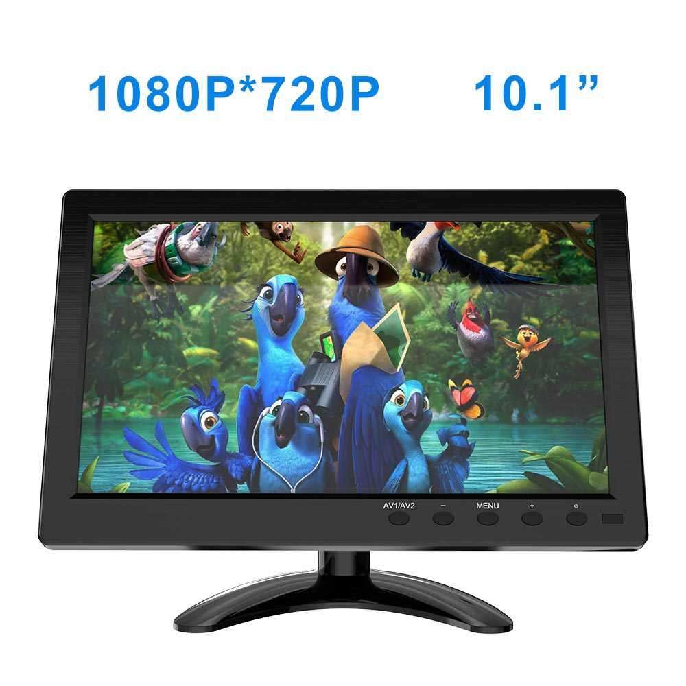 """Monitor de pantalla portátil FSU 1024*600, Monitor LCD de vista completa HDMI VGA AV Industrial capacitivo, Monitor de visión trasera de coche de 10,1"""""""