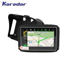 Karadar-navegador GPS para motocicleta MT4302, pantalla de 4,3 pulgadas, Wince 6,0, Ram256MB de Rom, 8G, con Motor impermeable IPX7, navegación GPS, actualización de mapa gratis