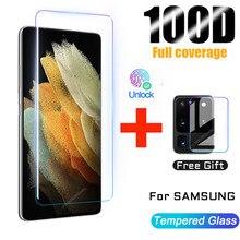 De vidrio templado para Samsung Galaxy Nota 20 S20 S21 Ultra S10 S9 S8 Plus Protector de pantalla S 21 10 9 8 S10E más S20 S 20 5G película