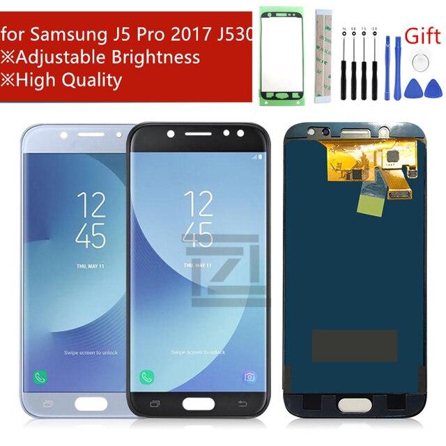 Adjust Brightness For Samsung Galaxy J530 2017 J5 pro lcd Touch Screen Digitizer Assembly J530F J530FM SM J530F Repair parts