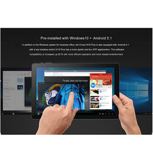 Tablet Pc Type-C 10.8 Inch 64 Bit 4Gbddr + 64Gb CWI527 Cpu Z8350 Dual Systeem Windows 10 En Andorid 5.1 Camera Hdmi-Compatibel