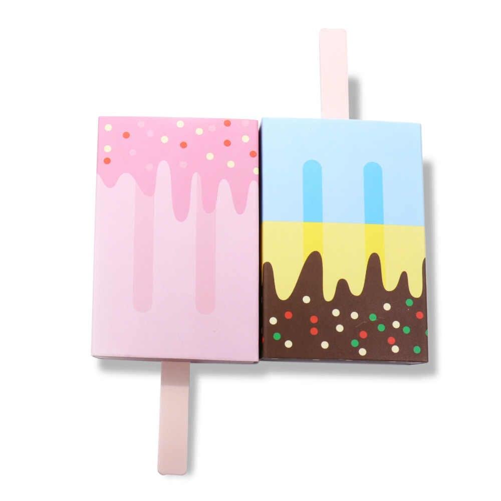 10 ピース/ロットアイスクリームキャンディーボックスギフトボックス漫画ボックスベビーシャワーガールボーイ子供の誕生日結婚式のパーティーの好意装飾