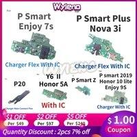 Wyieno Für Huawei P Smart 2019 Plus Z Genießen 7s P20 Y6 II Y6-2 V9 Spielen Ladegerät Port USB dock Lade Flex Kabel Mikrofon Bord