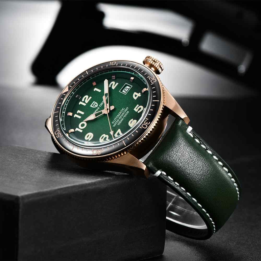 PAGANI DESIGN แฟชั่น Mens นาฬิกาอัตโนมัติ Mechanical นาฬิกาผู้ชายกีฬาหนัง 100M กันน้ำนาฬิกาผู้ชาย Relogio Masculino