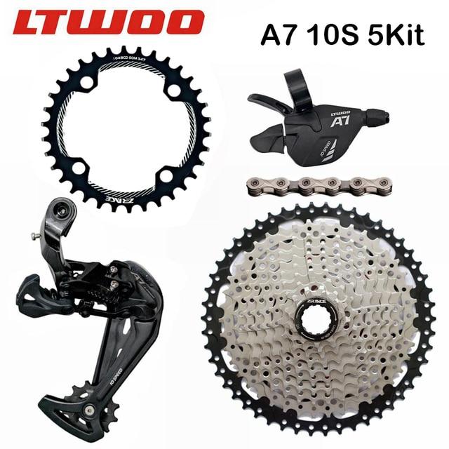 LTWOO A7 10 스피드 쉬프터 + 리어 디레일러 + 카세트/104BCD 체인 링 + 10 S 체인 그룹 세트, DEORE MTB Bike