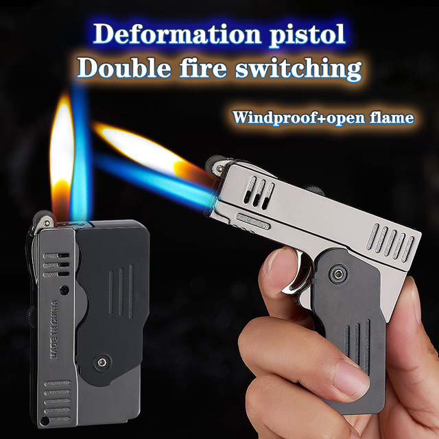 Butane Gas Jet Lighter High Capacity Torch Turbine Spray Gun Blue Flame Lighter Cigar Wild Kitchen Smoking Cigarette Accessories 3