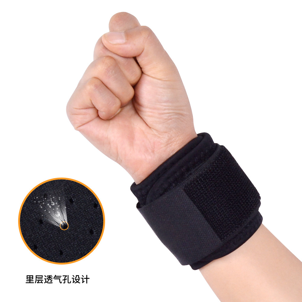Sports Pressurized Bracer Adjustable Bracer Breathable-Wound Wrist Band Weightlifting Sports Protective Wrist Protector