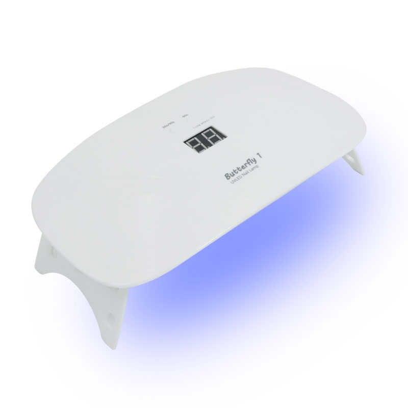 Cordless 24w LED UV Del Chiodo Della Lampada Del Chiodo Della Luce UV Dryer Mini Ricaricabile Per Asciugare Il Gel Polish Manicure Bianco Cura macchina Senza Fili