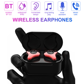 Wireless Earbuds BT 5.0 Earphones HIFI Headsets Stereo Sound In-ear Earpiece Hands-free HiFi Subwoofer Headphone with Charging