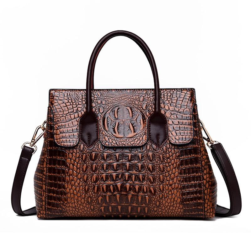 En gros élégance élégant serpent en relief de luxe sac à bandoulière Messenger sac Crocodile PU en cuir sac fourre-tout dames femmes sacs à main