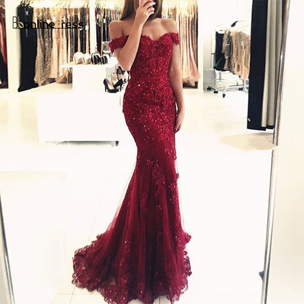 Party-Dress 2020 Mermaid Evening Dress Lace Beading New Arrival Long Evening Dresses Floor Length Formal Gowns vestido-de-festa