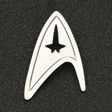 Star Trek Brooch Pin TMP The Motion Picture Admiral Command Badge Silver Color Fashion New Hot Movie Jewelry Men Women Wholesale