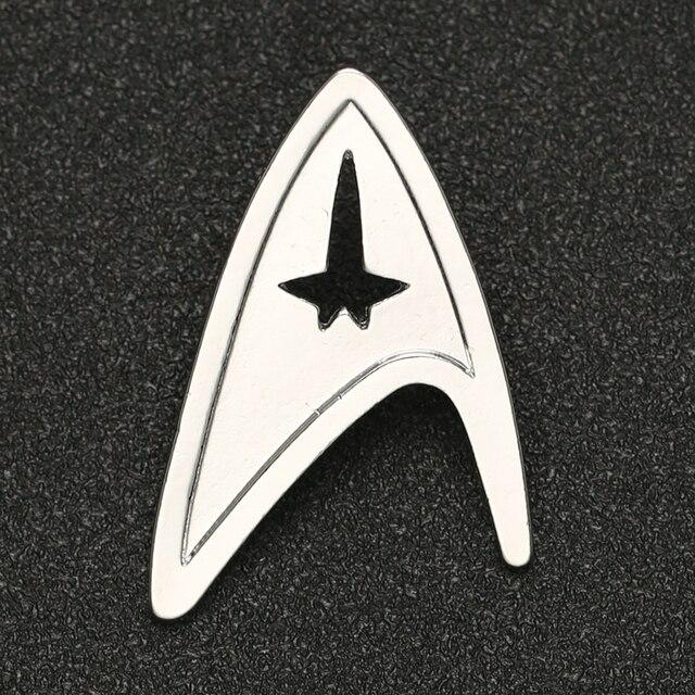 Star Trek Spilla Spille TMP La Motion Picture Ammiraglio Comando Distintivo di Modo di Colore Argento New Hot Movie Gioielli Delle Donne Degli Uomini commercio allingrosso
