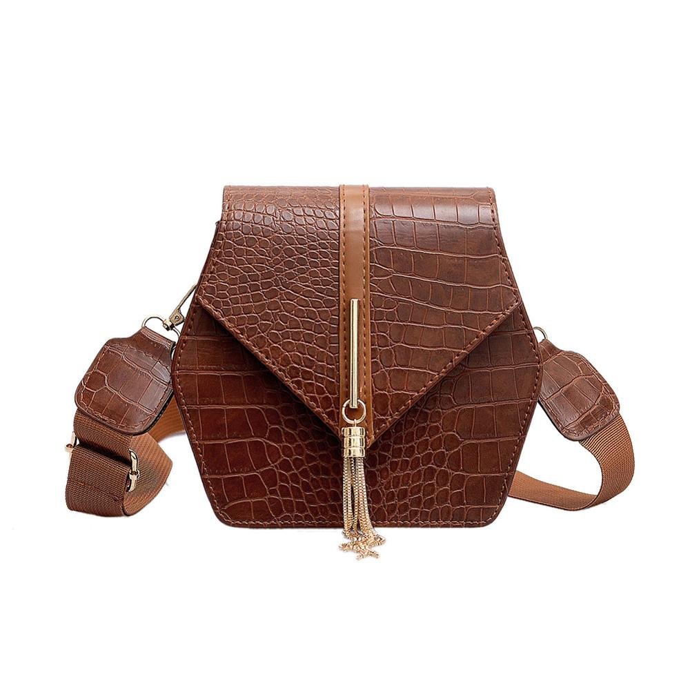 Fashion Retro Small Square Bag For Woman Paisley Portable Wild Shoulder Bag Messenger Handbag Crocodile Leather Purse
