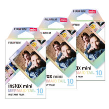Nova fujifilm instax mini filme instax mini 8 / 9 sereia cauda filme para fuji mini 7s 25s 26 70 90 câmera instantânea SP-1 SP-2