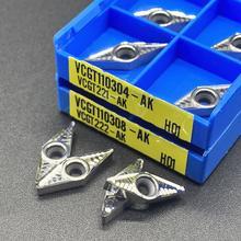 Vcgt110304 ak h01 vcgt110308 алюминиевый резак лезвие вставка
